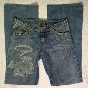 Streets ahead blue jeans with cowboy size 27